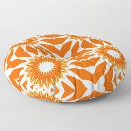 Orange Pinwheel Flowers Floor Pillow