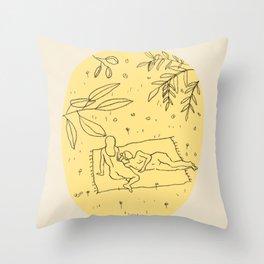 CALM SPRING Throw Pillow