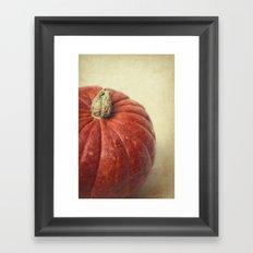 Red pumpkin Framed Art Print