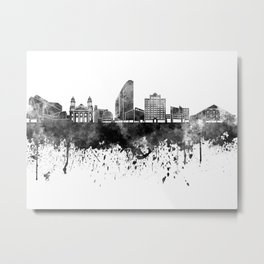 San Jose skyline in black watercolor Metal Print