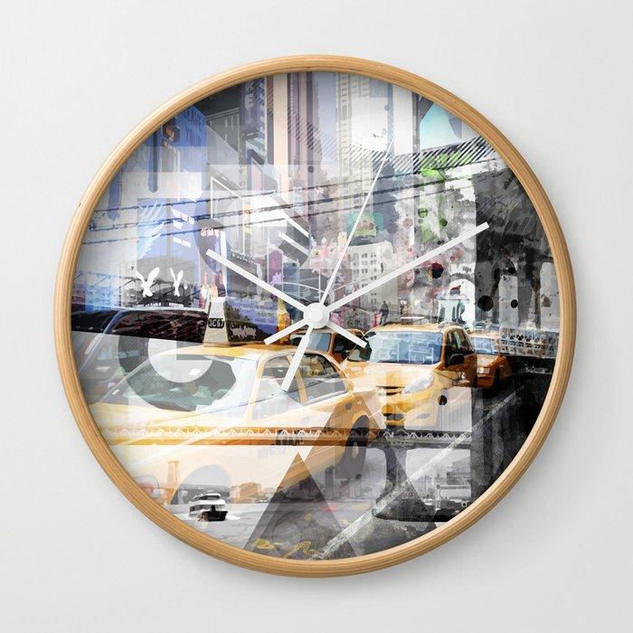 New York City | Geometric Mix No. 9 Wall Clock