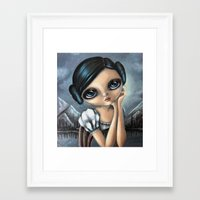 princess leia Framed Art Prints featuring Leia by ZELYSS