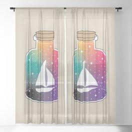 Bottles Dreams Sheer Curtain