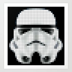 Stormtrooper : 8 Bit Pixel Art Print