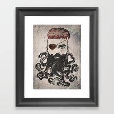 Black Beard Framed Art Print