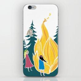 Midsummer bonfire (Kokko) iPhone Skin