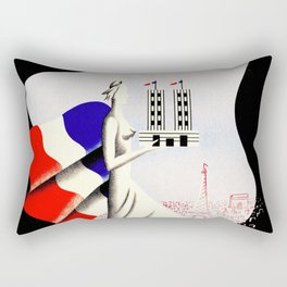 Paris Expo 1937 Art and Light Rectangular Pillow