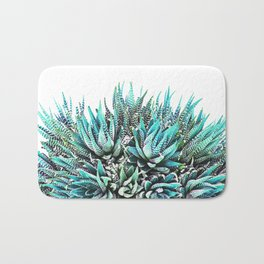 Cactus Crown 1. Blue & Green #decor #buyart Bath Mat