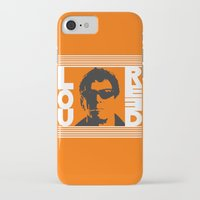 lou reed iPhone & iPod Cases featuring Lou Reed by Silvio Ledbetter