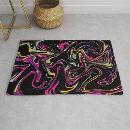 Abstract Whirl Colorful Modern Art Rug