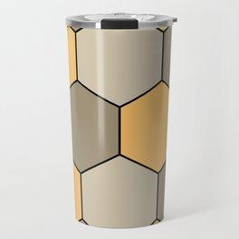 Honeycombs op art beige Travel Mug