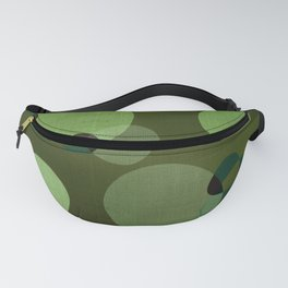 """Retro Green Super Dots"" Fanny Pack"