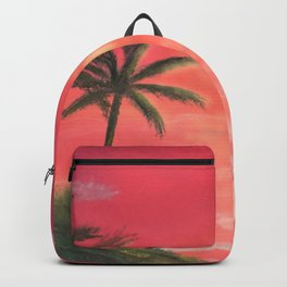 Palm trees swaying in the wind Backpack