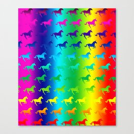 Psychedelic Unicorn Pattern Canvas Print