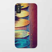 surf iPhone & iPod Cases featuring surf by Laura Ferro