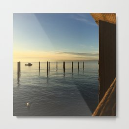 Winter Sun on Puget Sound Metal Print