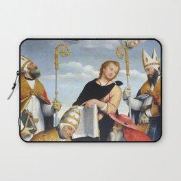 Giovanni Battista Moroni - Madonna con Gesù Bambino in gloria, i quattro dottori della Chiesa e San Laptop Sleeve