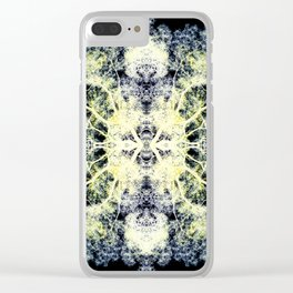 Neon Mirrored Trees 11 Clear iPhone Case