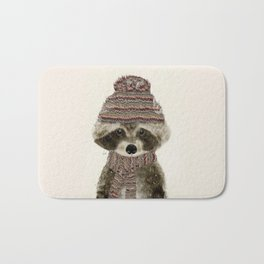 little indy raccoon Bath Mat