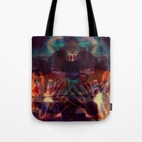 scary Tote Bags featuring Scary by WDeluxe