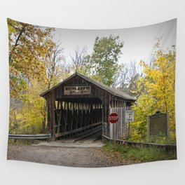Whites Covered Bridge in Michigan Wall Tapestry