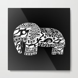 black elephant ecopop Metal Print