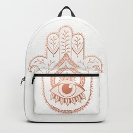 Hamsa Hand - Rosé Gold Backpack