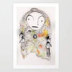 have not got any answers other than the ones i know are wrong Art Print