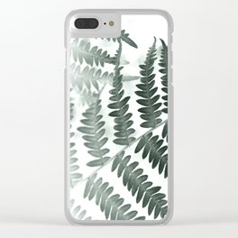 Fern Textures Clear iPhone Case