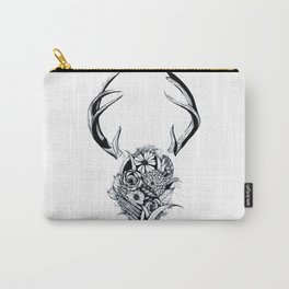Antler Bouquet Black&White Carry-All Pouch