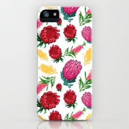 Beautiful Australian Native Floral Pattern iPhone Case
