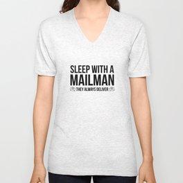 Sleep With A Mailman Unisex V-Neck