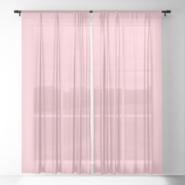 Bubble Gum Pink Sheer Curtain