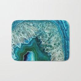 Aqua turquoise agate mineral gem stone Bath Mat