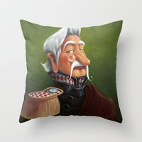 general Throw Pillows featuring General by Jinwoo Kim