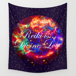 Reiki is Divine Love | The Energy it Flows | Going with the Flow Wall Tapestry
