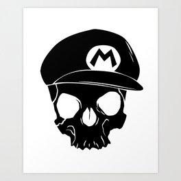 Mario fan til I die Art Print