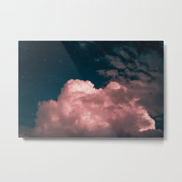 Pink night clouds Metal Print