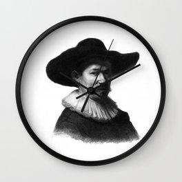 Man in a hat 1 Wall Clock