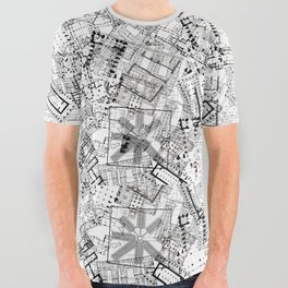 Floorplan collage All Over Graphic Tee