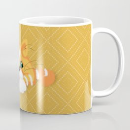 Cute Fluffy Ginger and white cat Coffee Mug