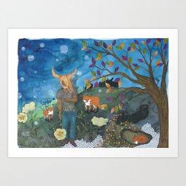 Father Fox Art Print