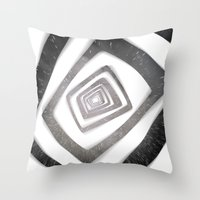 persona 4 Throw Pillows featuring Into the TV (Persona 4) by ASHPLUS