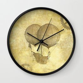 Steampunk Balloon  Wall Clock