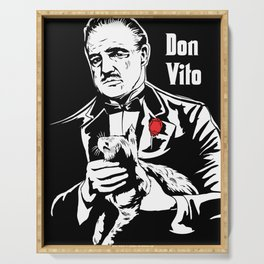 Don Vito Corleone art Serving Tray