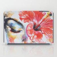 hibiscus iPad Cases featuring Hibiscus by Maria Lozano - Art