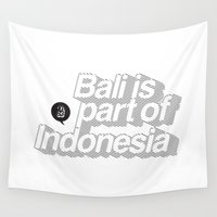 indonesia Wall Tapestries featuring Bali is part of Indonesia Lines by Vectdo