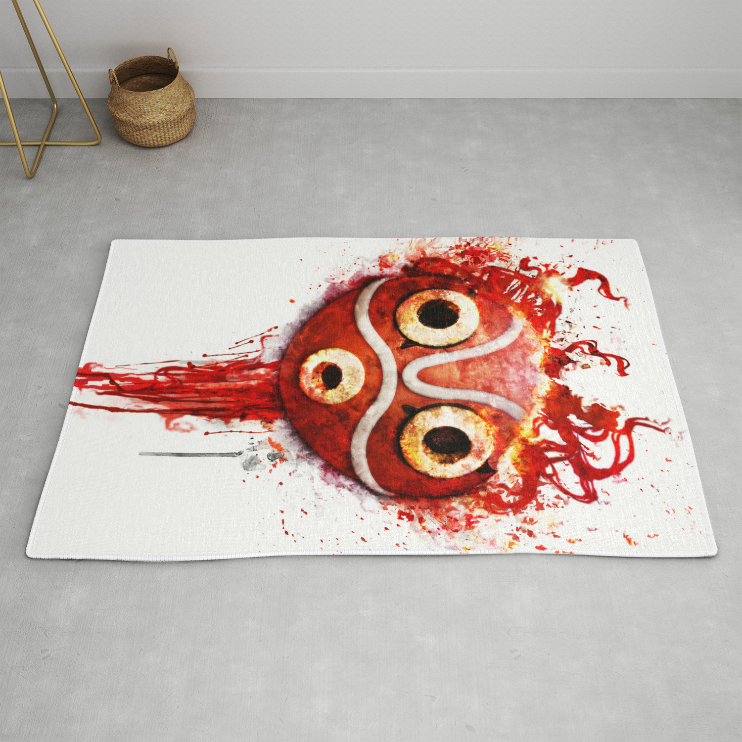 Princess Mononoke Mask Rug By Ururuty Society6