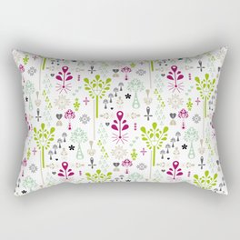 Retro Folk Rectangular Pillow