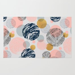 Pattern circles abstract shapes and textures Rug